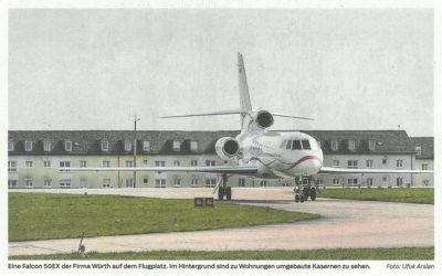 Bericht Haller Tagblatt vom 11. April 2018 Fluglärm: Wie störend sind acht nächtliche Starts pro Jahr?