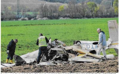 Bericht Haller Tagblatt vom 7. November 2018:  Ein Flugzeug soll dem anderen den Weg abgeschnitten haben.